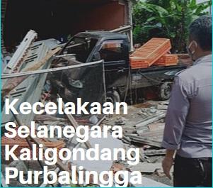 Kecelakaan Purbalingga, Mobil Pick Up Tabrak Ruko di Selanegara Kaligondang Purbalingga